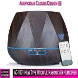 AC-1831 novo tipo humidificador ultra-sônico de madeira do ar de 550ml com de controle remoto