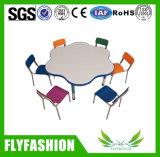 Muebles de jardín de infantes mesa de estudio escritorio y silla para niños (SF-35C3).