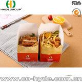 Gedruckter Carboard gebratener Huhn-verpackenkasten/faltender Imbiss-Nahrungsmittelpapierkasten