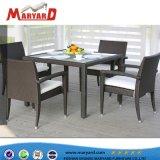 Salle à manger en rotin professionnel Table de Patio Set de 4 chaises et 6 chaises