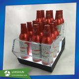Cremagliera di visualizzazione acrilica della bottiglia da birra del vino per la promozione