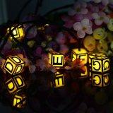 6m가 태양 강화한 LED 끈에 의하여 정원 홈 결혼식을%s 30의 LEDs 영어 알파벳 방수 옥외 빛 점화한다