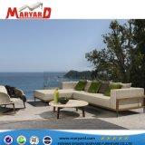 Moderner Entwurfs-hölzerne im Freien Möbel-Teakholz-Sofa-und Luxusteakwood-Sofa-Möbel