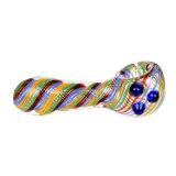 Tubo de vidro do tubo de água de vidro vidro tabaco listra colorida tubo tubo colher de vidro