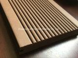 Compuesto de plástico de la madera, revestimientos de suelos sólidos ordinarios, techado, ideal para piso exterior