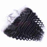 Cheveux humains d'onde profonde vierge 13X4 dentelle Suisse frontale