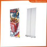 Rolo de promoção de suporte de Banner com gancho de plástico Bar, Suporte de Alumínio
