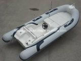 Liya 4.3mのガラス繊維の携帯用漁船の贅沢で膨脹可能な肋骨のボート