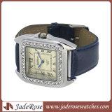 Relógio unisex da faixa do couro do relógio do relógio quente de quartzo das vendas