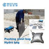 Bloque de piedra que empuja el bolso de agua hidráulico del amortiguador de acero