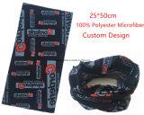 Sciarpa senza giunte del tubo del poliestere bianco nero di marchio personalizzata prodotti della fabbrica della Cina
