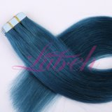 Heißes Verkaufs-Band auf Haar-Extensionen mit dem brasilianischen Jungfrau-Haar