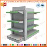 Singola mensola posteriore parteggiata d'acciaio del supermercato della scaffalatura della visualizzazione del foro (Zhs130)
