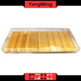가득 차있는 투명도 또는 특별한 금 부지깽이 칩 쟁반 (YM-CT04)
