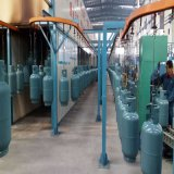 12.5kg/15kg de Lijn van de Deklaag van het Poeder van de Apparatuur van de Productie van de Gasfles van LPG