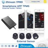 Système de contrôle de pression de pneu, Bluetooth TPMS Smartphone TPMS avec le détecteur externe