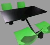 Хорошо спроектированный планеты человечеству ресторан стол и стулья