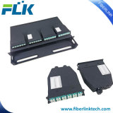 1U MPO-LC cassetes de fibra óptica para montagem em rack ODF da estrutura de distribuição