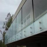 балюстрада Railing Tempered стекла 12mm полно Frameless/стеклянных с стеклянным тупиком