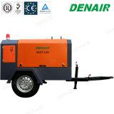 Compressori d'aria rotativi diesel della vite di raffreddamento ad aria di Denair sulle rotelle Two/2