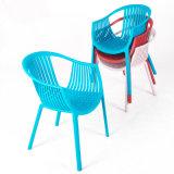 판매를 위한 파란 쌓을수 있는 플라스틱 의자