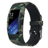 De Riem van het Silicone van de Band van de Lijn van de Greep van het metaal voor Horloge 2 van het Toestel van Samsung Geschikt Slim