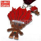 Médaille rose animale en métal de récompense de dessin animé pour des cadeaux de souvenir d'enfants de gosses