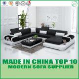 Moderne lederne Wohnzimmer-Sofa-Ausgangsgeschnittenmöbel