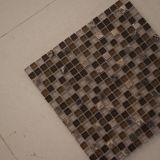 Мозаика кристаллический стекла плитки конструкции стены Brown для строительного материала