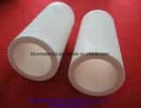Tubo di ceramica dell'allumina bianca industriale