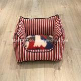 빨간 줄무늬 형식 디자인 애완 동물 애완 동물 부속품 고양이 개 소파 베드