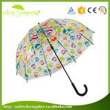 주문을 받아서 만드는 충분히 23inch 돔 투명한 우산 인쇄