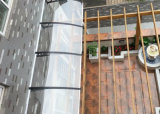 Haute qualité d'ébarbage de vitre de porte extérieure de bricolage / Patio Couvrir Protection contre le soleil