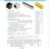 Entrada Superior Multi-Ports 1X8 Conector PCB RJ45 com blindagem