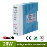 20W 24V CC Alimentation à commutation de rail DIN pour l'équipement industriel