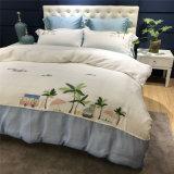Комплект Quilt вышивки хлопка гостиницы роскошный