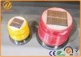 Indicatore luminoso d'avvertimento infiammante magnetico solare ambrato dello stroboscopio del sensore chiaro LED