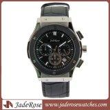 Klassische lederne Quarz-Uhr-Luxuxarmbanduhr für Männer