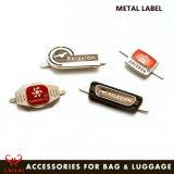 Acessórios de metal de moda logotipo bagagem personalizados etiqueta metálica de etiqueta de nome para as bolsas