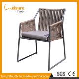 Confortable Ocio barato al aire libre jardín patio de la cuerda de poliéster Cafe Silla Hotel Inicio Muebles de Comedor