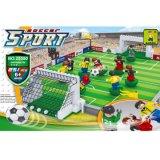 Bloc réglé de jouets de métier du terrain de football DIY de construction créatrice neuve de gosses d'Ausini pour l'amusement