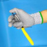 Guante anti de la seguridad de la resistencia del corte de los guantes del trabajo de corte de Hppe para el vidrio y dar de acero