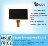 Surface adjacente de l'étalage 10.1inch1024*600 RVB 50pin de TFT LCD pour l'appareil ménager