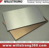 Panneau composite aluminium brossé pour les façades de solution