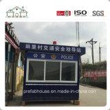 La ISO certificó la casa prefabricada del envase como rectángulo de la policía/del protector