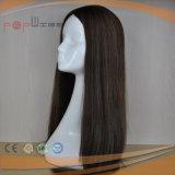 人間の毛髪の黒カラー長い女性のかつら(PPG-l-01061)