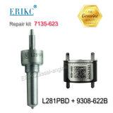 Erikc Delphi Reparatur Kir 7135-623 (L281PBD + 9308-621C) Cr-Dieselkraftstoffeinspritzdüse-Ventil grosser Reparatur-Installationssatz für Ejbr05501d