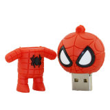 Presente quente do Natal do preço da movimentação do flash do USB do Spiderman do Sell 4GB