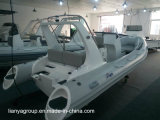 Bateau gonflable rigide de Hypalon de bateau de côte de Liya 19FT avec le moteur extérieur