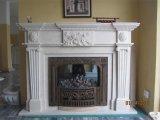Marmo di pietra naturale bianco della scultura/camino dell'interno del granito